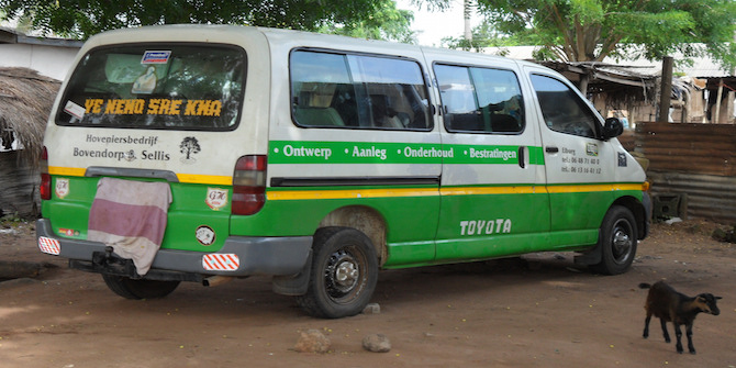 The trotro, or minivan pictured is what used by many Ghanaians to travel around the country and is the way people from the North travel to the South of the country for better opportunities Photo Credit: Charlie via Flickr (http://bit.ly/2hZEFbv)  CC BY 2.0