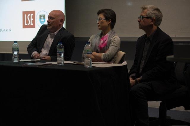Herman Wasserman, Binchung Meng and Nick Couldry at LSE on 30 November 2016