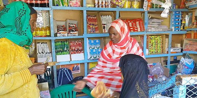 An example of a small shop selling basic food and non-food essentials in New Hargeisa Photo Credit: Nasra Jama