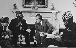 Mobutu Sese Seko and Richard Nixon in Washington DC in October 1973