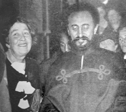 Sylvia Pankhurst and Haile Selassie Image Credit: Sylvia Pankhurst official website
