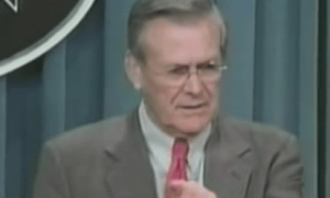 Rumsfeld: he knew what he didn't know he knew