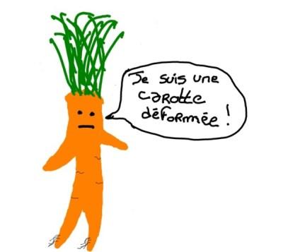 Dessin carotte déformée