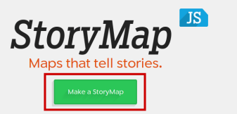 """Cliquer sur """"Make a StoryMap"""""""