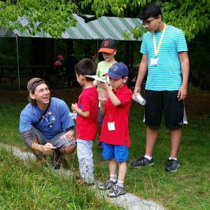 teacher naturalist Michael teaching about bugs