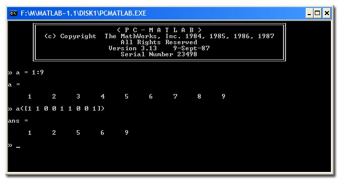 MATLAB 3.13 screen shot
