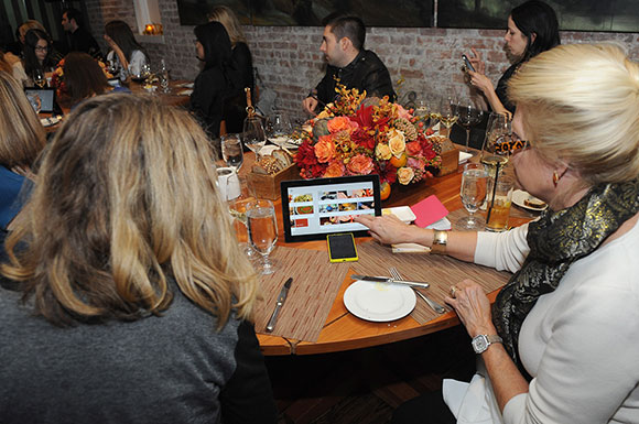 Guests experience how easy it is to use Windows devices for everyday use with the Surface 2 and the Nokia Lumia 920. Tom Colicchio reiterated the importance of shopping for ingredients that are in season and letting the ingredients drive your meal inspiration. For example, right now he is looking forward to squash and braised greens as the winter season begins. Searching recipes by ingredient in the Bing Food & Drink app is simple and easy.