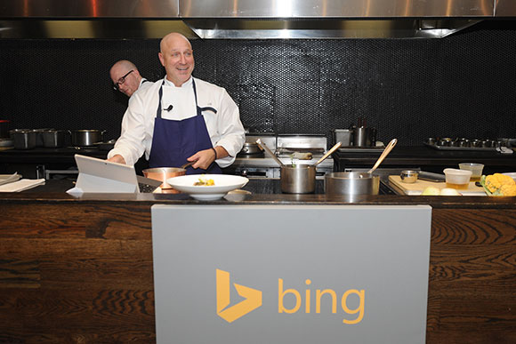 To make meal planning easier, Tom Colicchio discussed his favorite ways to get organized. Use what you have — your phone, PC or tablet — to find recipes and organize meals. The Bing Food & Drink app lets you find new recipes and create shopping lists in one click.
