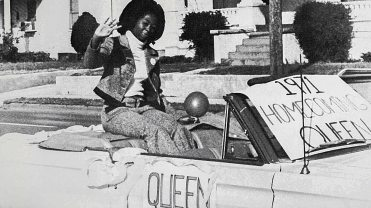 Sheila Bouie-Sledge riding in the parade
