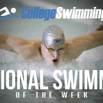 Osvath named CollegeSwimming National Swimmer of the Week