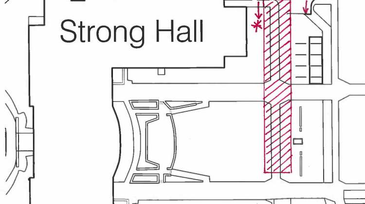 Closure Notification – Strong Hall Sidewalk