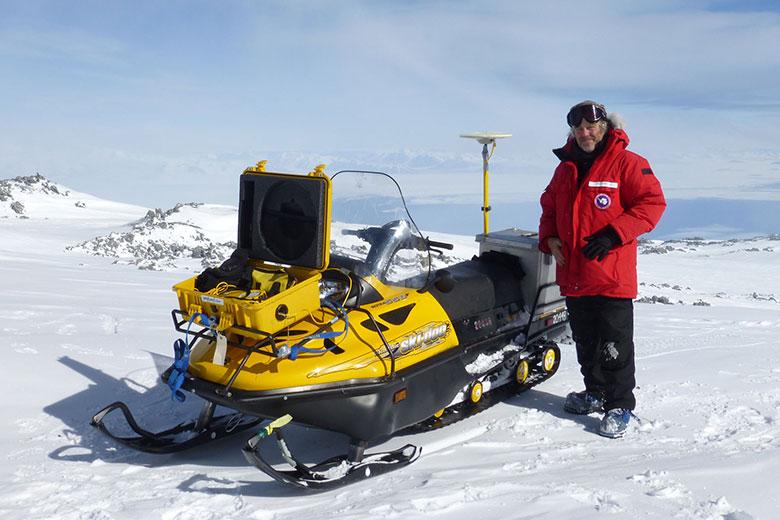 Dr. Kevin Mickus in Antartica