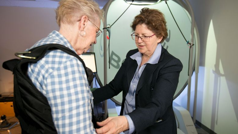 Dr. Susan Robinson working with a patient