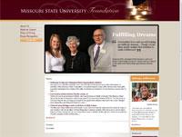 Missouri State University Foundation Screenshot