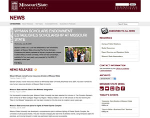 Missouri State University News Site Updated