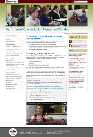 Communication Sciences and Disorders website