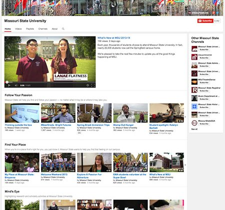 YouTube channel redesign