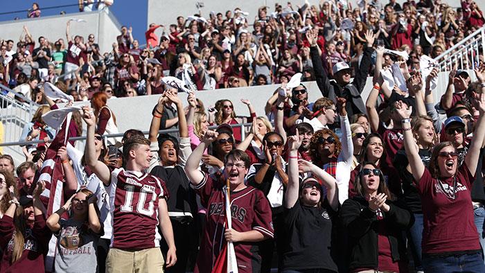 Football student crowd