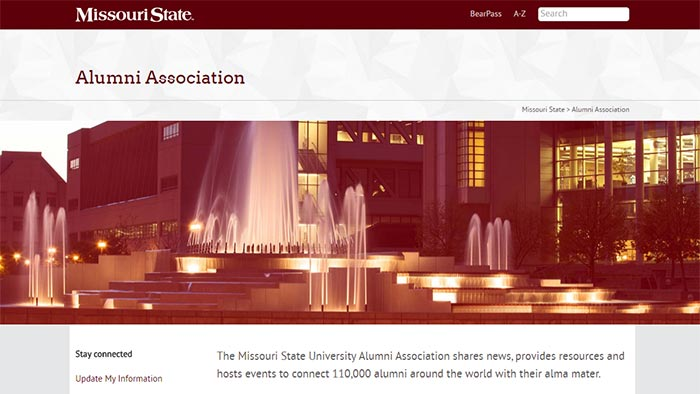 Missouri State seeks full-time new media specialist for alumni relations