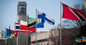 Public Affairs avenue of flags