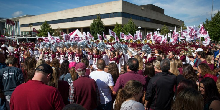 Bearfest Village prior to the homecoming game