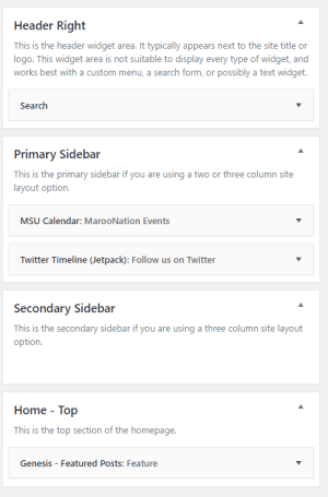 image of sidebar widgets for blog