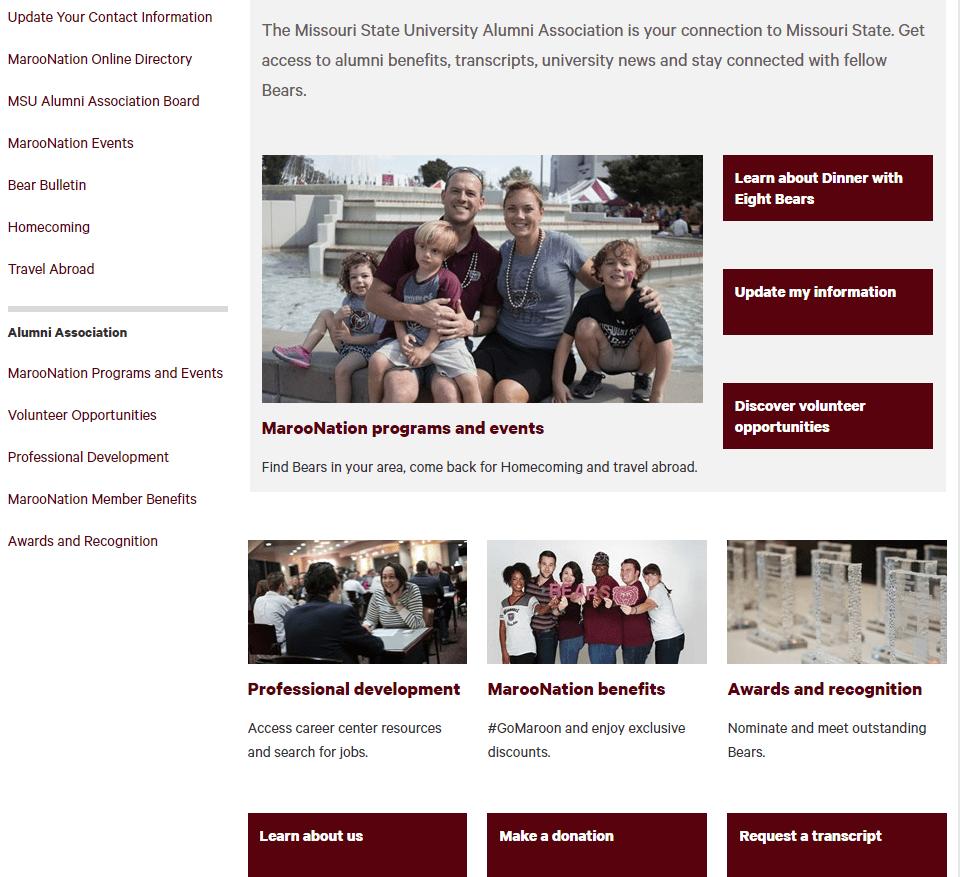 new alumni site