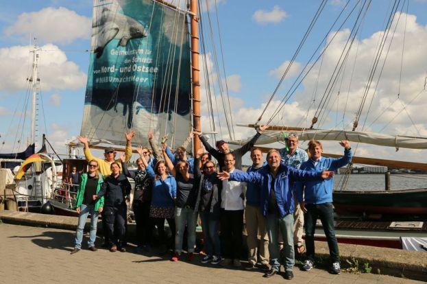 """Gute Laune in Kiel bei der """"NABU macht Meer"""" Crew - Foto: NABU/Volker Gehrmann"""