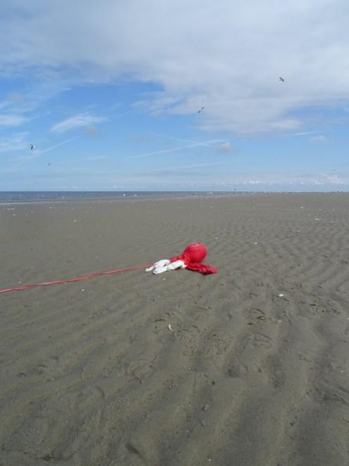Luftballons am Strand