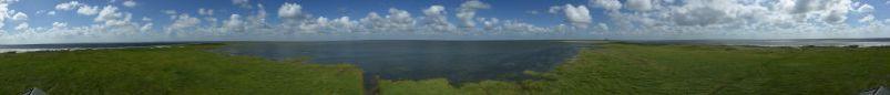 Inselpanorama bei hohem Hochwasser (Foto: Tore J. Mayland-Quellhorst).