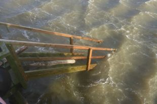 Treppe im Wasser (Foto: Tore J. Mayland-Quellhorst).