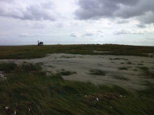 Sand wurde vom Sturm über die Düne gespült (Foto: Tore J. Mayland-Quellhorst).