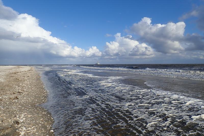 Hochwasser am Strand (Foto: Jonas Kotlarz)