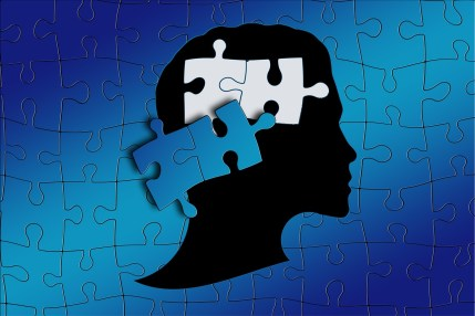 Image of jigsaw and brain to represent dyslexia