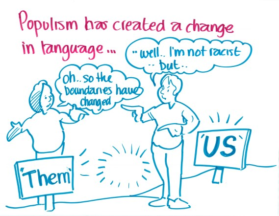 """Populism has created a change in language..."""