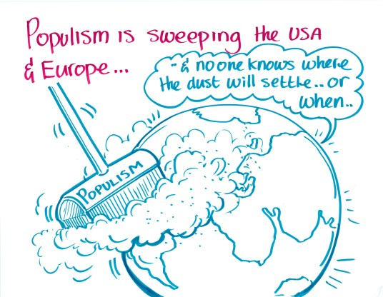 """Populism is sweeping the US & Europe..."""