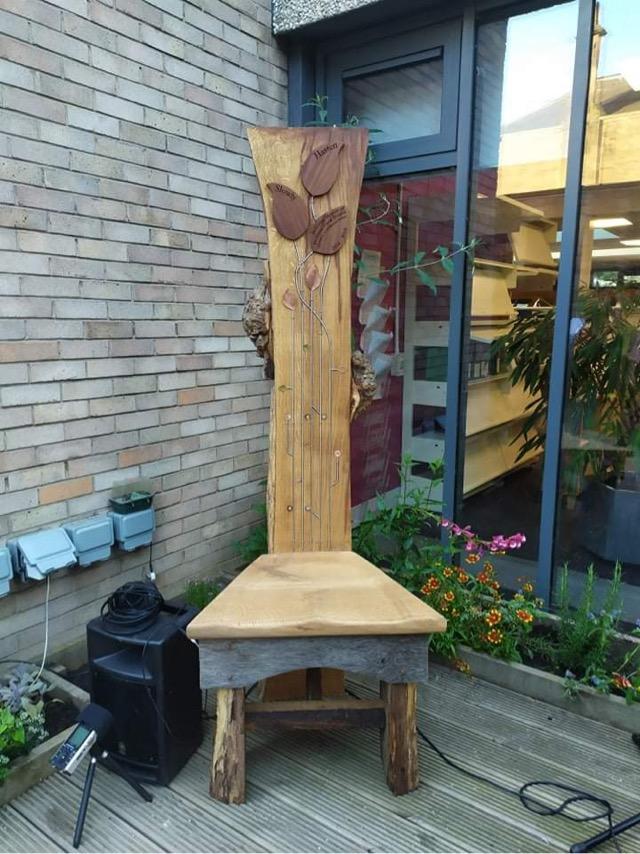 Hasten Slowly Storytelling Chair in situ
