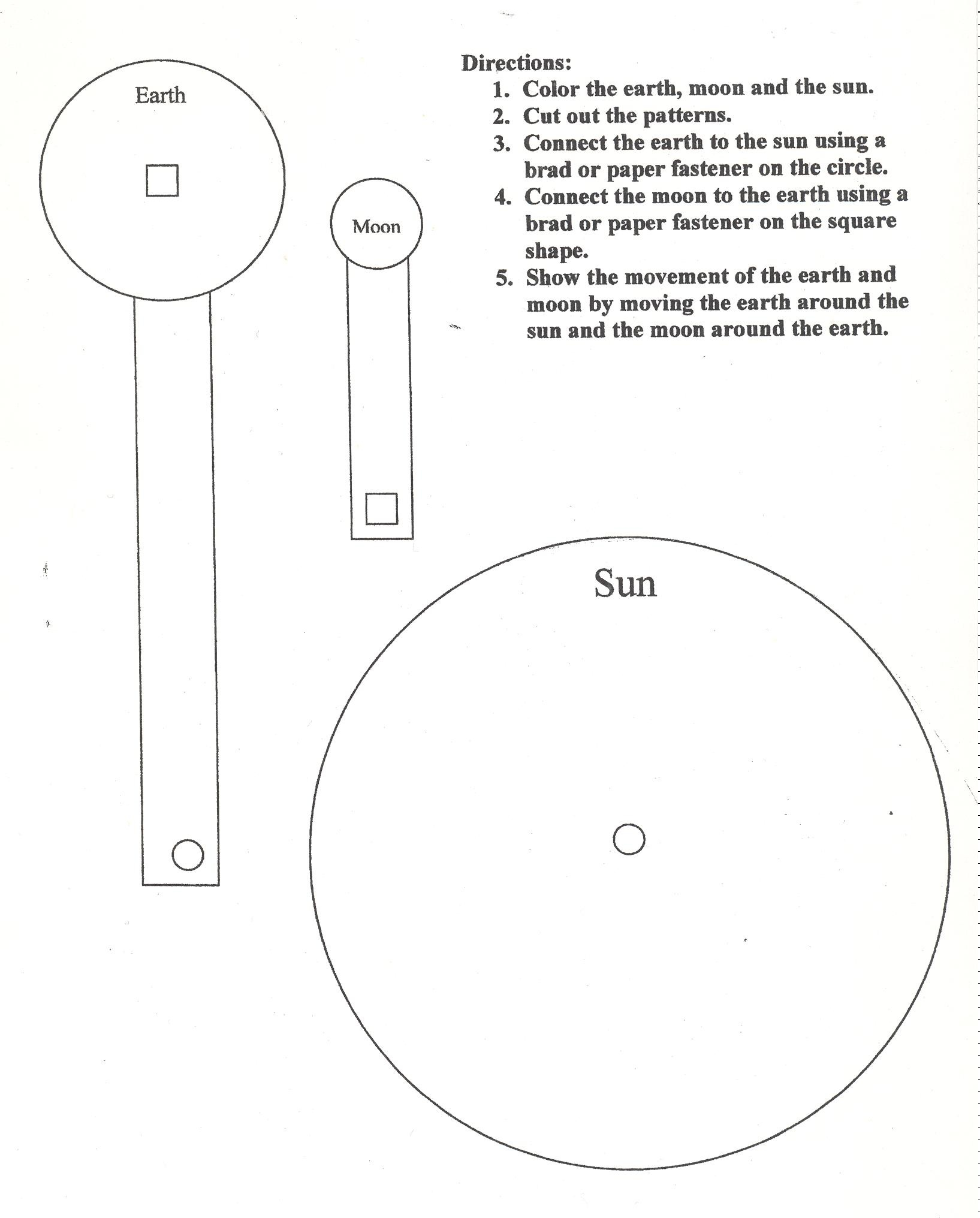Sun Moon Earth Model Worksheet Page 3