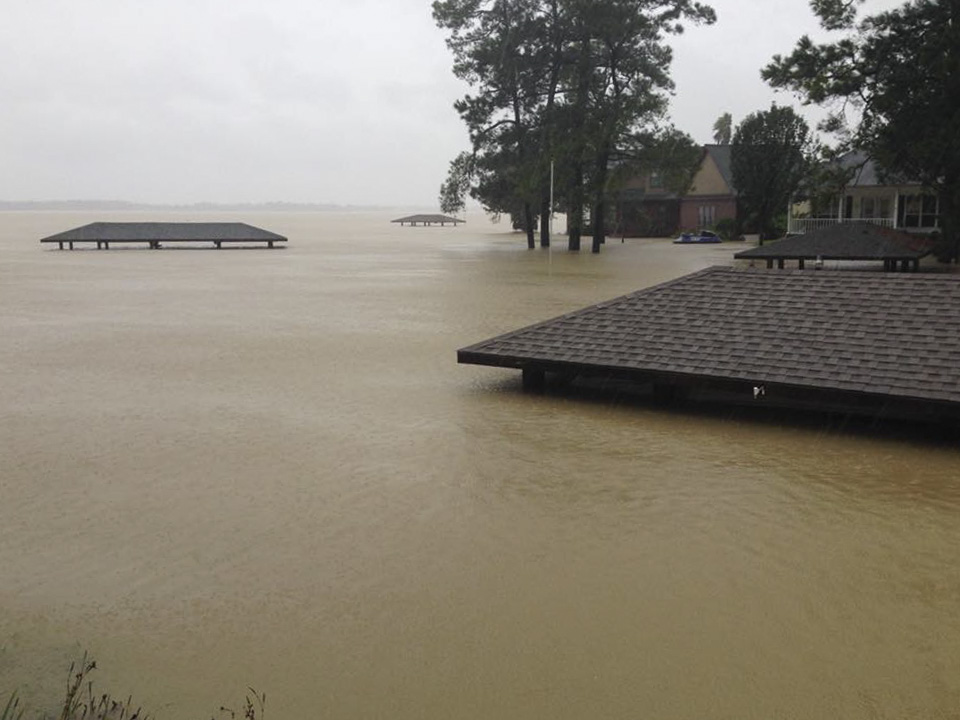 Flooding along at Lake Houston after Hurricane Harvey, Sep. 2017
