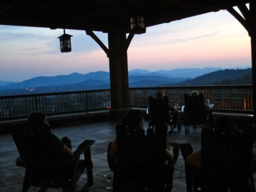 Adirondack chairs and a stellar sunset: The perfect end to an adventure-filled day.