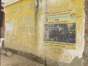 Mural advertising a clean water project sponsored by a German NGO