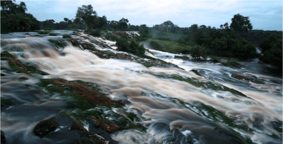 The distant roar of Kongou falls of which this is a small part can be heard deep in the jungle…