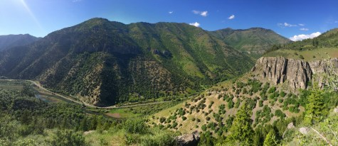 Logan Canyon as seen from the Crimson trail