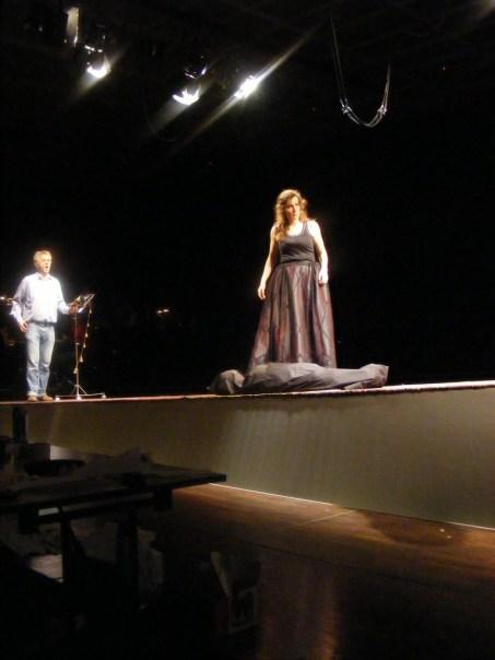 Werner Matusch (links) als Timm (eines der vielen Geesche-Opfer) und Frau Giftmörderin höchstpersönlich (Annette Schönmüller als Geesche)
