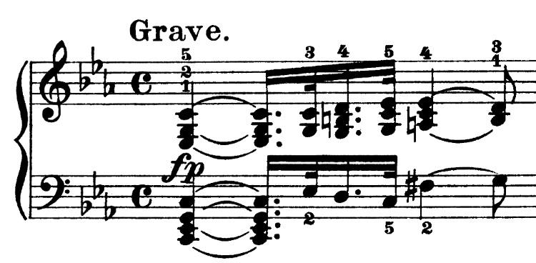 Beethoven op. 13 - 1. Satz - Takt 1
