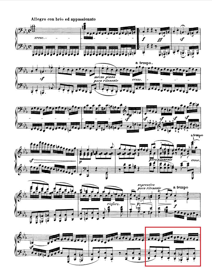 Beethoven op. 111 - 1. Satz - Takt 38