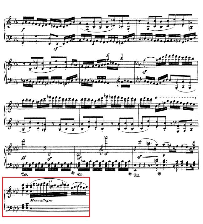 Beethoven op. 111 - 1. Satz - Takt 52