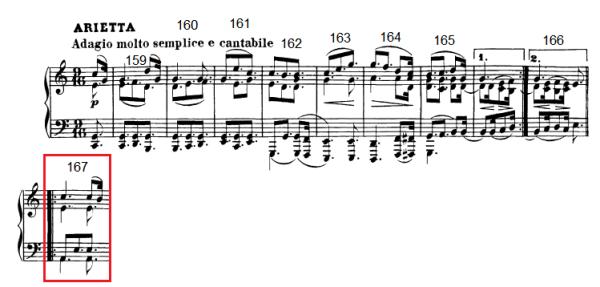 op. 111 – Eine Analyse in 335 Teilen – Takt 167 (Adventskalender, Türchen Nr. 1)