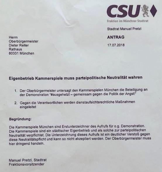 Die unwissentliche CSU-Orbanisierung des Münchener Kulturlebens
