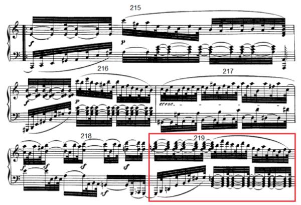 op. 111 – Eine Analyse in 335 Teilen – Takt 219